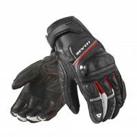 Guanti pelle moto Rev'it Chicane nero rosso M black red leather gloves