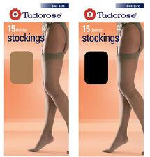 Ladies Tudorose 3 Pairs 15 Denier Knee Highs With Comfort Top 11 Colours 4-7 Black