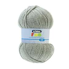 Patons Fab DK Yarn 100g Ball Double Knitting Machine Washable 100 Acrylic Grey