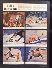 """1946 Disney Article ~ Peter Wolf ~ """"Make Mine Music"""" Willie Whale~ Casey at Bat"""