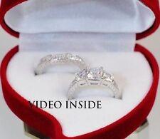 Echte Diamanten-Ringe aus Platin mit Prinzess