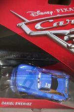 "DISNEY PIXAR CARS 3 ""#19 DANIEL SWERVEZ"" NEW IN PACKAGE, SHIP WORLDWIDE"