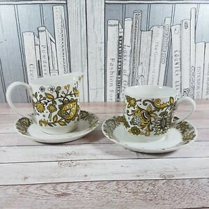 Vintage Midwinter Marquis Of Queensberry Milk Jug, Coffee Cup, 2 side plates