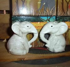 Elephant salt & pepper set shakers novelty/collectable ceramic African S&P gift