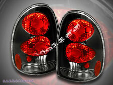 1996-98-2000 DODGE CARAVAN VOYAGER DURANGO TAIL LIGHTS BLACK