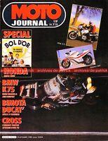 MOTO JOURNAL  715 Essai Road Test BMW K75 C K 75 K75C BIMOTA DB1 Bol d'Or 1985