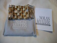 NOLAN MILLER Bracelet OMG Gorgeous Huge Goldtone & Crystals NEW GREAT GIFT