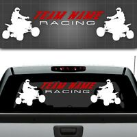 "ATV Race Team Graphic, Quad Sticker, ATV Truck Window Decal - 12"" x 48"""
