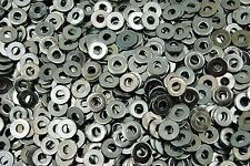 (4000) #8 SAE Machine Screw Flat Washers - Zinc Plated 8-32