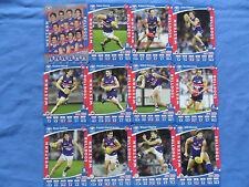 2012  TEAMCOACH  AFL  CARDS  WESTERN BULLDOGS  BASIC TEAM SET  + CHECKLIST