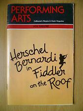 1982 Performing Arts Fox Theatre: Herschel Bernardi in FIDDLER ON THE ROOF