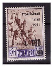 SAN MARINO 1951 -  PRO ALLUVIONATI  POSTA AEREA   NUOVO  **