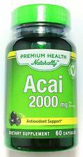Double Strength Acai Berry 2000mg Antioxidant 20:1 Extract 60 Capsules Pills