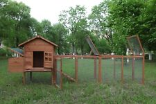 120'' Chicken Hutch W/ Run Outdoor Hen House Poultry Pet Wooden Coop Nest Box