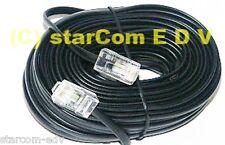 6m Telefon-Kabel ISDN Anschlusskabel 6,0m schwarz RJ45 8P4C S0 6 m