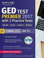 GED Test Premier 2017 with 2 Practice Tests: Online + Book + Videos + Mobile...