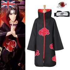 More details for anime akatsuki uchiha itachi ninja naruto cosplay costume unisex cloak kid adult