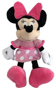 """Disney Baby Minnie Mouse 19"""" Plush Doll Pink Dress Bow Shoes New With Tags"""
