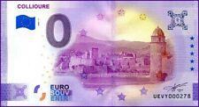 UE VY-1 / COLLIOURE / BILLET SOUVENIR 0 € / 0 € BANKNOTE 2021-1