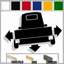 adesivo sticker piaggio APE 50 125 vespa tuning down-out dub prespaziato
