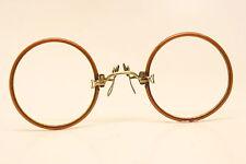 Unused Antique Pince Nez Eyeglasses Hard Bridge NOS