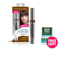 Cover Your Gray Waterproof Root Touchup- Dk Brown & FREE Coconut Hair Cleanser