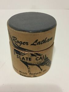 Vintage Roger Latham Slate Turkey Call Penn's Woods Delmont Pa Hunting