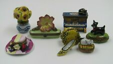 Limoges Mixed Trinket Box Lot of 7 All As-Is All Have Some Issues Please Read