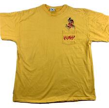 90s Hong Kong Phooey Hanna Barbera VTG Yellow Single Stitch Pocket T Shirt Sz XL