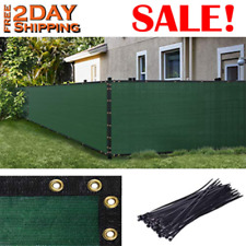 PRIVACY SCREEN Fence Windscreen with Bindings Grommets Ties Green 5' x 50' AMGO