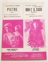 Partition vintage sheet music ANTOINE : Non E' Il Caso * 60's Italy