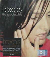TEXAS - THE GREATEST HITS 2000 EU 2 X CD ENHANCED DELUXE LTD EDITION SLIPCASE