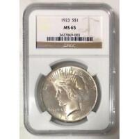 1923 Peace Dollar NGC MS65 *Rev Tye's* #900395