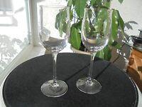 "Set of 2 Tulip Rim Clear Wine Glasses 7 1/2"" Tall"