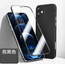 Tempered Glass + Tpu 360° Phone Case for iPhone 12 Pro Max Lens Protector Cover