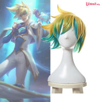 League of Legends LOL Ezreal Cosplay Wig Star Guardian the Prodigal Explorer Wig