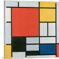 Composition in Red, Yellow, Blue and Black 1921 Canvas Art Print Piet Mondrian