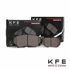 FRONT + REAR New Ceramic Premium Disc Brake Pad Set With Shims KFE1210 KFE1423