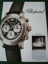 CHOPARD MILLE MIGLIA SPORTING WATCH POSTER ADVERT READY FRAME A4 SIZE FILE I