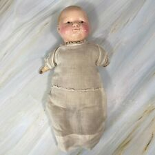 Vintage 1921 Compostion EFFANBEE Doll Soft Body Squeaker with Muslin Dress 12""