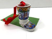 Vintage 2005 Hutschenreuther FARM Christmas Ornament Porcelain Boot Pig Chicken
