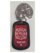 Personalized Engraved // Firefighter Dog Tag Necklace // Free Shipping