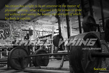 GYM MOTIVATION 1 PHOTO POSTER  WORKOUT FITNESS WEIGHTS DEADLIFT SOCRATES QUOTE