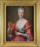 Large 18th Century Old Master Portrait of a Lady Cleopatra Antique Oil Painting
