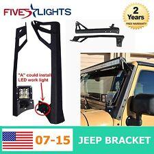 "07-16 Jeep JK 52"" inch LED Light bar Metal Upper Windshield Mounting Brackets FS"