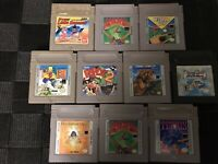 Lot Of 10 Gameboy Games Popeye 2 Bart & The Beanstock Fortified Zone Tetris +