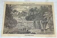 1832 magazine engraving ~ View of CORRA LINN, FALLS OF THE CLYDE Scotland