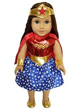 Halloween Wonder Woman Costume Outfit Fits 18 Inch American Girl Doll Clothe