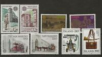 MINT Iceland Andorra San Marino Yugoslavia Stamps from 1979 on a Stock card