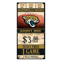 Jacksonville Jaguars Old Game Ticket Holzschild 30 cm NFL Football Wood Sign